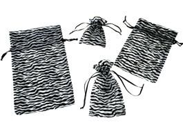Organza Zebra Stripe Bags