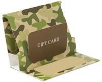 Pop-Up Gift Card Folders - Camo