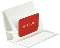 Pop-Up Gift Card Folders - White