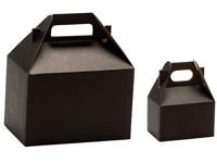 Gable Boxes - Noir Kraft