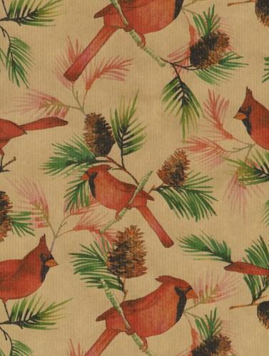 Pinecones & Cardinals