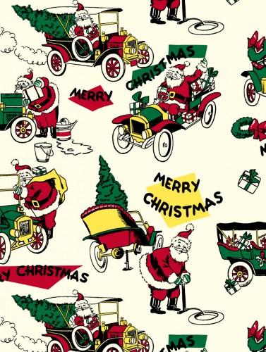 Vintage Santa Car