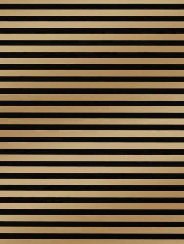 Black & Gold Stripe