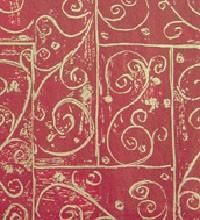 Holiday Tissue - Burgundy Swirls