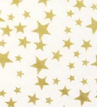 Precious Metals Tissue - Gold Stars White