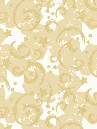 Gold Stars & Swirls