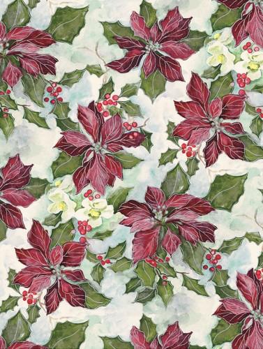 Painterly Poinsettias